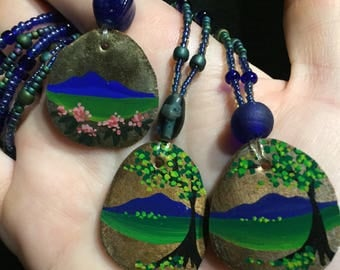 Beaded Mountain Necklace