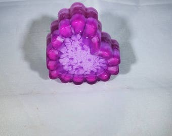 Lavender scented purple heart shaped soap