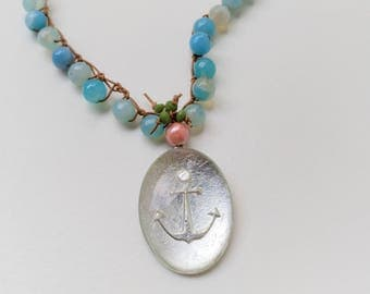 Oval Anchor Necklace