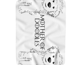 Mother Of Doodles - Sherpa Fleece Blanket - Goldendoodle /  Labradoodle / Golden Doodle / BerneDoodle