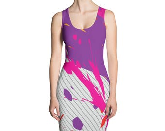 Splached- Women's Dress,Sublimation Cut & Sew Dress