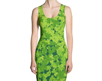 St.Patrick's Day Sublimation Cut & Sew Dress, Lucky, Printful, USA