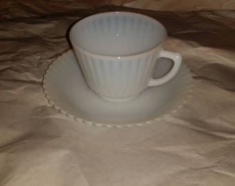 MacBeth-Evans Petalware Monax Opalescent Cup and Saucer