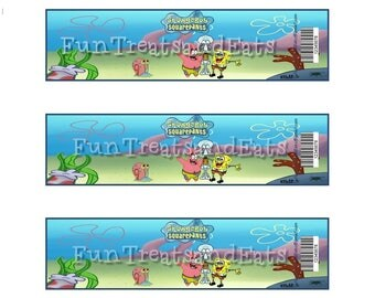 Spongebob Water Bottle Labels