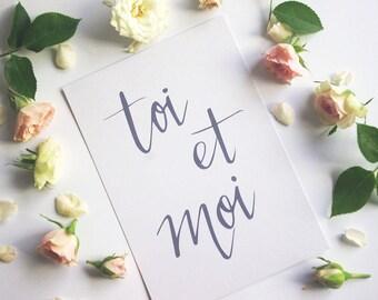 Toi et moi Greeting Card