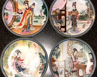 IMPERIAL JINGDEZHEN Porcelain Plate Beauties of the Red Mansion #1 #2 #3 #4
