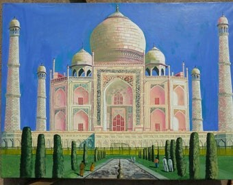 The Taj Mahal oil painting