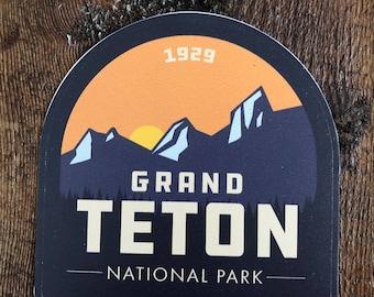 Grand Teton National Park - vinyl sticker