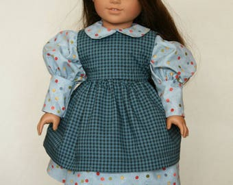 American Girl Party Dress with Pinafore