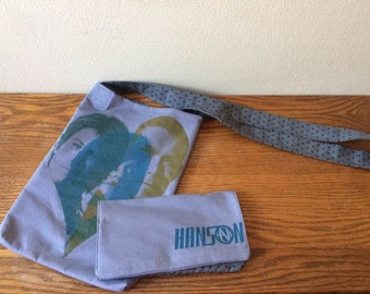 Upcycled T-shirt Bag & Wallet: Hanson shirt