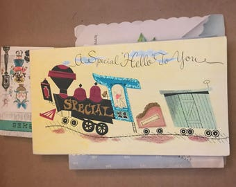 Set of 10 Vintage Greeting Cards