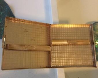 Vintage cigarette case gold