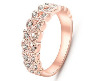Beautiful rose gold colored rings