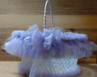 Easter Basket, Flower Girl,  Baby Shower basket