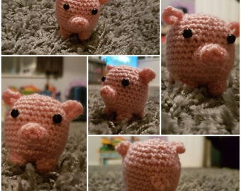 Custom Crochet  Amigurumi Tea Cup Pig Plushie Pin Cushion