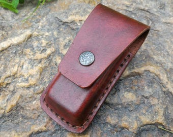 VIctorinox Leather Pouch, Pocket Knife Case, Leather Folding Knife Sheath, Leather Pocket Knife Sheath, Pocket Knife Case, Knife Case,