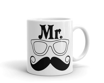 Mr. Coffee Mug Mr. Mustache Coffee Mug Funny Coffee Mug for Men Birthday Gifts for Coffee Lovers Tea Mug Funny Coffee Gifts for Men