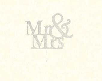 Silver Acrylic Mr & Mrs Topper