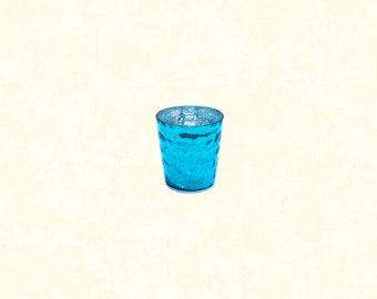"Luxe Votive 2.75""x2.8"" - Turquoise"