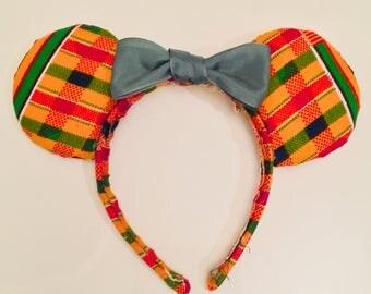 Kente cloth Minnie ears