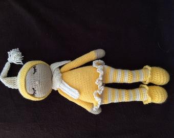 Crochet Sleeping doll (Amigurumi)