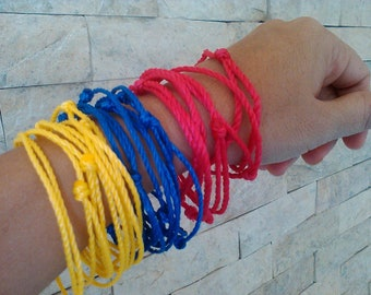 Adjustable bracelet of red thread, of colors, for the evil eye, good luck, amulet protection, man woman and children kabbalah friendship