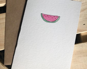Hand Painted Watermelon Note Card