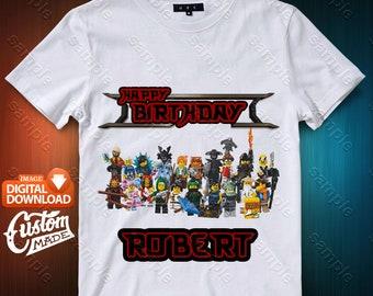 Ninjago Iron On Transfer, Ninjago Birthday Shirt DIY, Ninjago Shirt Designs, Ninjago Printable, Personalize, Digital Files