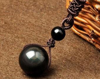 Rainbow Obsidian pendant necklace