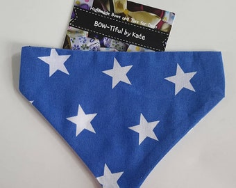 Dog Bandana - stars design, gift for dogs, accessories, dogs, neck tie, gift, grooming, present