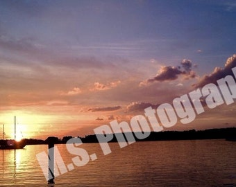 St. Mary's River Sunset 16X20 wrapped canvas (smaller and larger sizes available)
