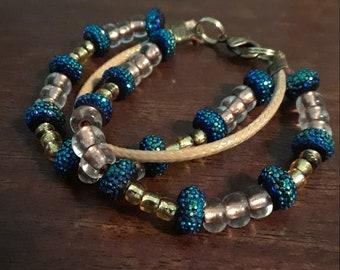 Kids Gold and Blue Bracelet