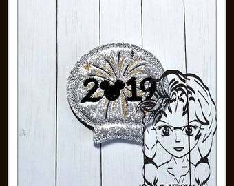 2019 FiREWORK NeW YeAR Ear(Add On ~ 1 Pc) Mr Miss Mouse Ears Headband ~ In the Hoop ~ Downloadable DiGiTaL Machine Emb Design by Carrie