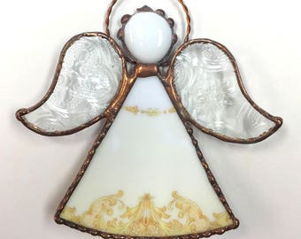 Stained Glass and China Plate Angel
