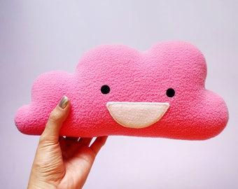 Baby Shower Gift, Baby Cushion, Nursery Cushion, Kids Room Decor, Cloud Cushion, Cloud Nursery, Pink Cushion, Blush Pink - MINI HAPPY CLOUD