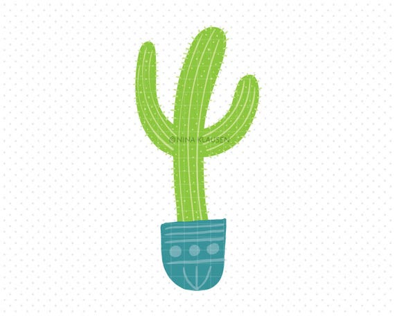 Saguaro Cactus Clipart / Hand Drawn Succulent Artwork / A0011