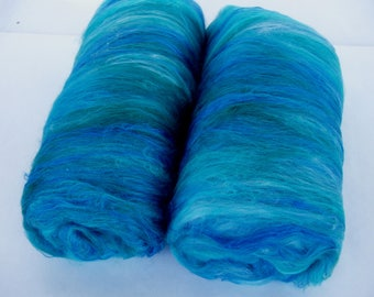 18 micron merino silk spinning batts, fiber batts, merino batts, nuno felting fiber, spinning fiber, batting, batts, art batt, 3.5oz, 100g
