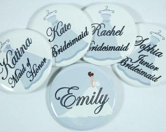 Bridesmaid Dresses Personalized Wedding Name Tags - set of 12