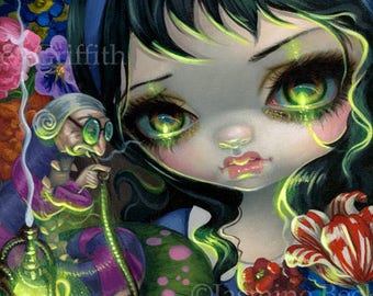 Faces of Faery 238 big eye fairy face art print by Jasmine Becket-Griffith 6x6 alice in wonderland caterpillar