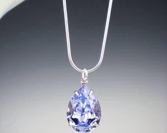 SUMMER SALE 3 Provence Lavender Rhinestone Necklace Wedding Jewelry Bridesmaid Necklace Swarovski MADE To Order
