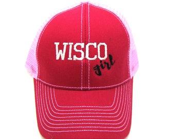 Clearance - Sale - Gift - Gracie Designs Hat - Wisco Girl Trucker hat
