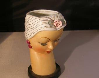 1950s HEAD vase WomAN UOAGCOCHINA Japan