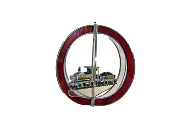 Model Train 3D Stained Glass Suncatcher