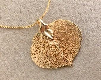 Vintage Gold Leaf Pendant