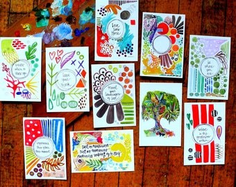 SALE - grab bag: 4 x 6 inches - set of 10