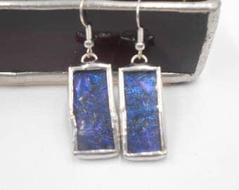 Van Gogh Glass Earrings