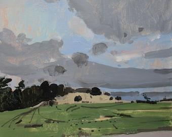 Interlude, Original Autumn Landscape Painting on Paper, Stooshinoff