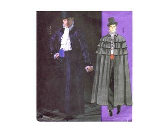 McCalls 4550 Mens Victorian Cape Phantom of the Opera Coat Steampunk Costumes Sewing Pattern Chest 46 - 48 - 50 - 52 - 54 - 56 UNCUT