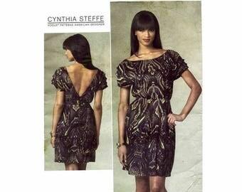 SALE Cynthia Steffe V-Back Dress Vogue 1207 Sewing Pattern Size 14 - 16 - 18 - 20 Bust 36 - 38 - 40 - 42 UNCUT