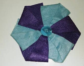 Half Price & Ready to Ship! Colorful Felt Pinwheel Headband in Blue and Purple for Women or Children